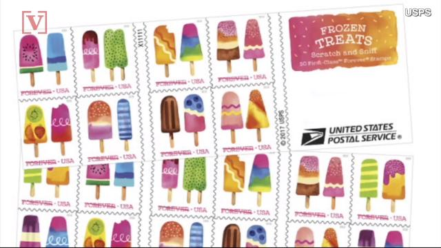 Remember the scratch and sniff stickers you had growing up.They're back, in the form of stamps!