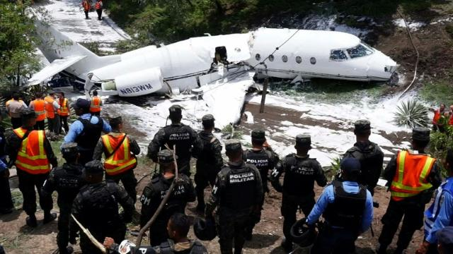 Firefighters respond to plane accident in Honduras Video provided by AFP
