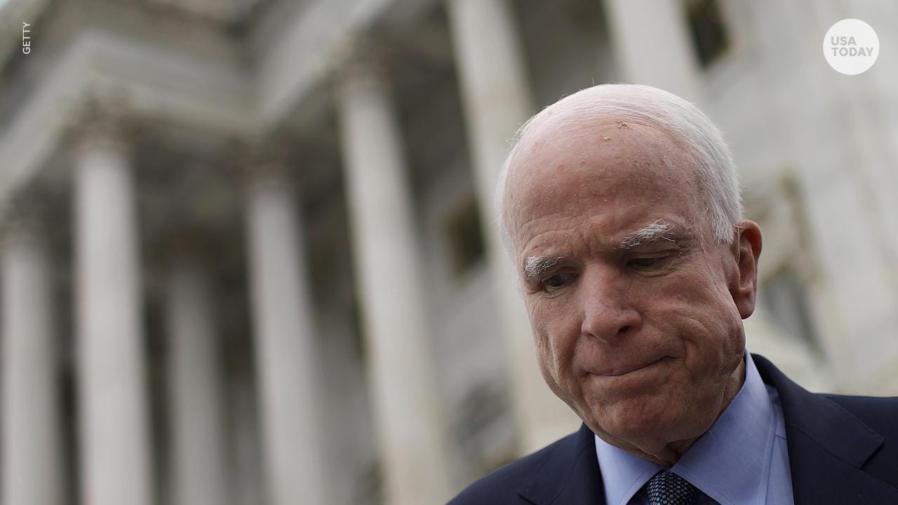 The insults hurled at Senator John McCain as he fights brain cancer reveal what politics has become: a blood sport.