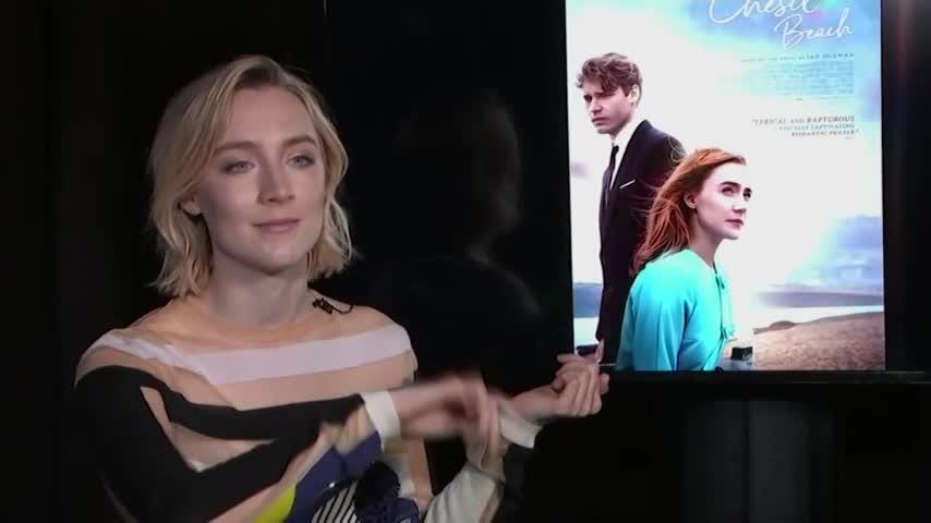 Actress Saoirse Ronan loved her latest project, which allowed her to have a glimpse at what she might look years from now and make an attempt at learning the violin. (May 22)