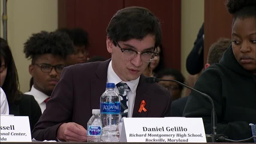 Students affected by gun violence from Florida to Illinois had their voices heard on Capitol Hill Wednesday. They took part in a Democratic led House of Representatives Gun Violence Prevention Forum. (May 23)