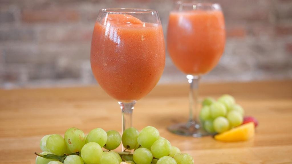 Get yourself a blender and make these 'wine slushies' all summer long
