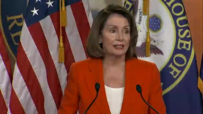"""After inflating a bubble of expectation for aa historic summit with North Korea, President Donald Trump deflated it and House Democratic Leader Nancy Pelosi said """"It's unfortunate,"""" and Kim Jong Un is the """"big winner."""" (May 25)"""