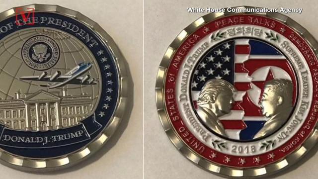 white house coin korea