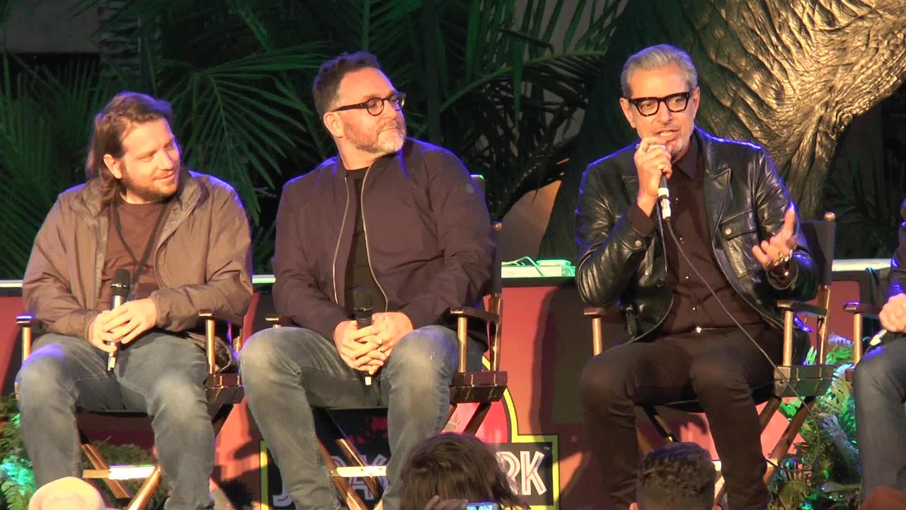 """Jurassic Park"" came out 25 years ago, but people are still talking about Jeff Goldblum's odd shirtless scene. Goldblum hilariously dealt with more questions on stage during an anniversary discussion."