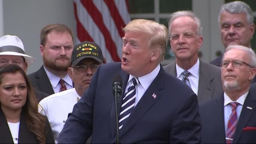 President Trump signs VA law giving vets private healthcare