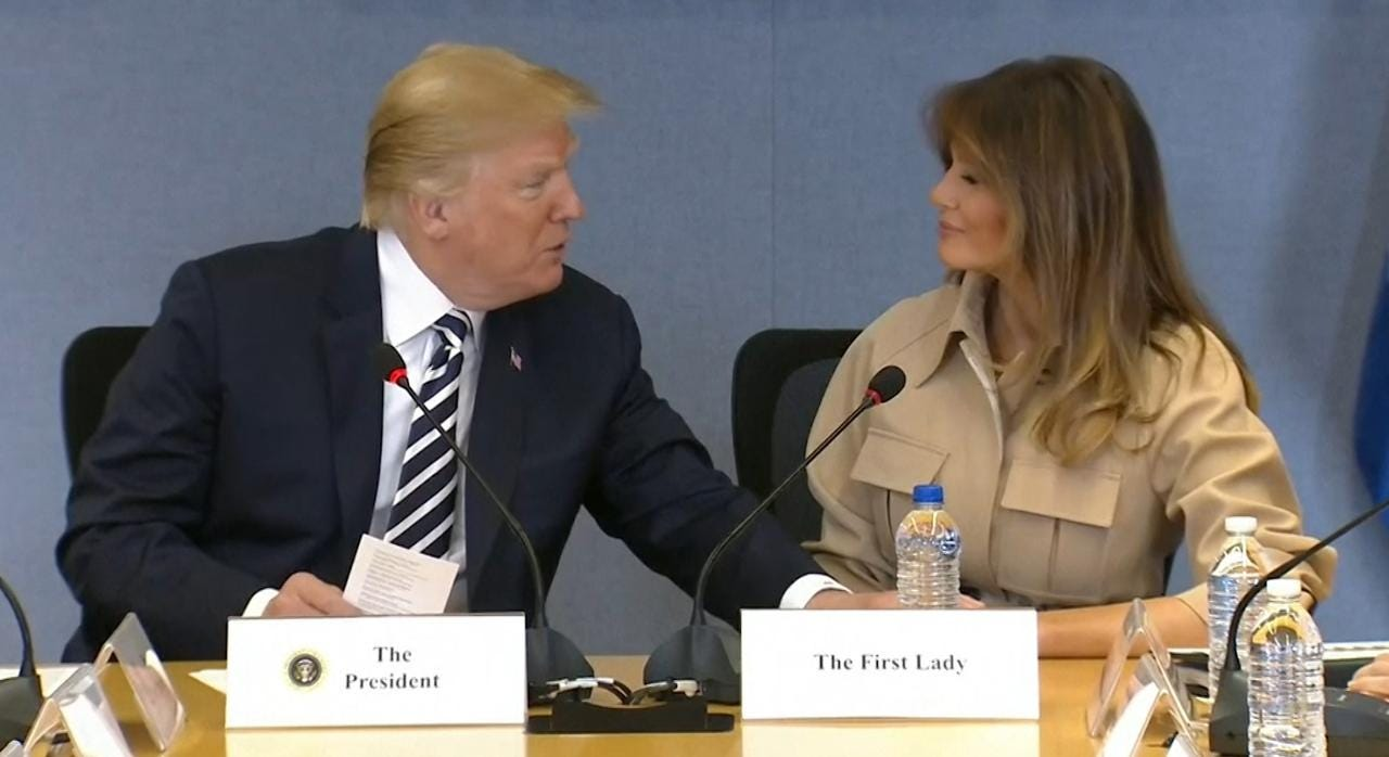 Melania Trump camera-ready as POTUS attacks media over coverage aeca35cac289