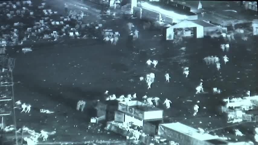 Las Vegas authorities on Wednesday released recordings of dozens of 911 calls and hours of video from surveillance cameras from the night last year when a gunman opened fire on an outdoor concert, killing 58 people and injuring hundreds more. (June 6)