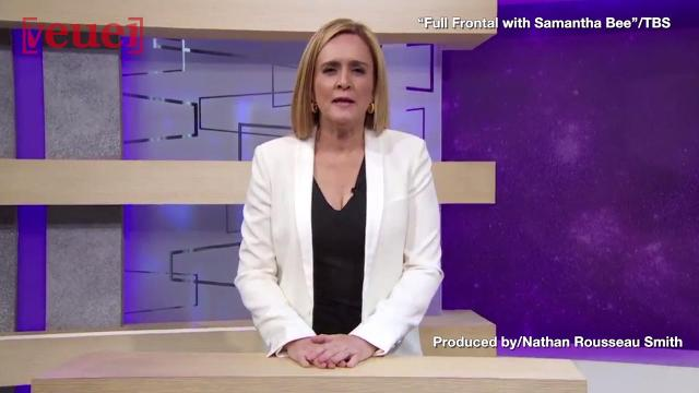 """Returning to TV, comedian Samantha Bee, admitted she crossed the line but remains defiant in her fiery apology saying she's sorry for distracting the public """"from more important issues."""" Nathan Rousseau Smith shows us."""