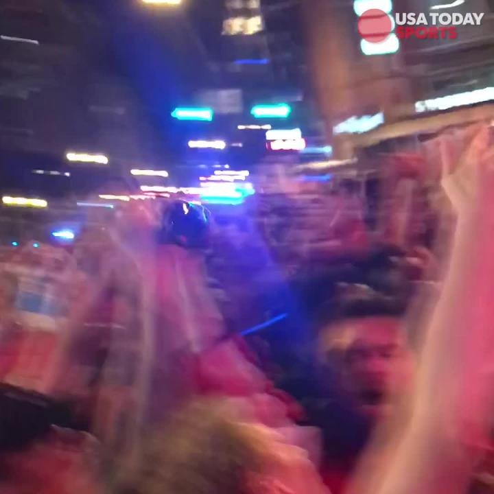 Washington D.C. fans took their wild celebration to the streets after their Capitals won their first ever Stanley Cup championship.