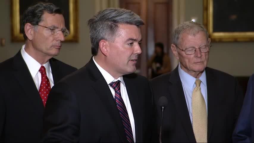 'Upbeat' Trump calls GOP senators after summit