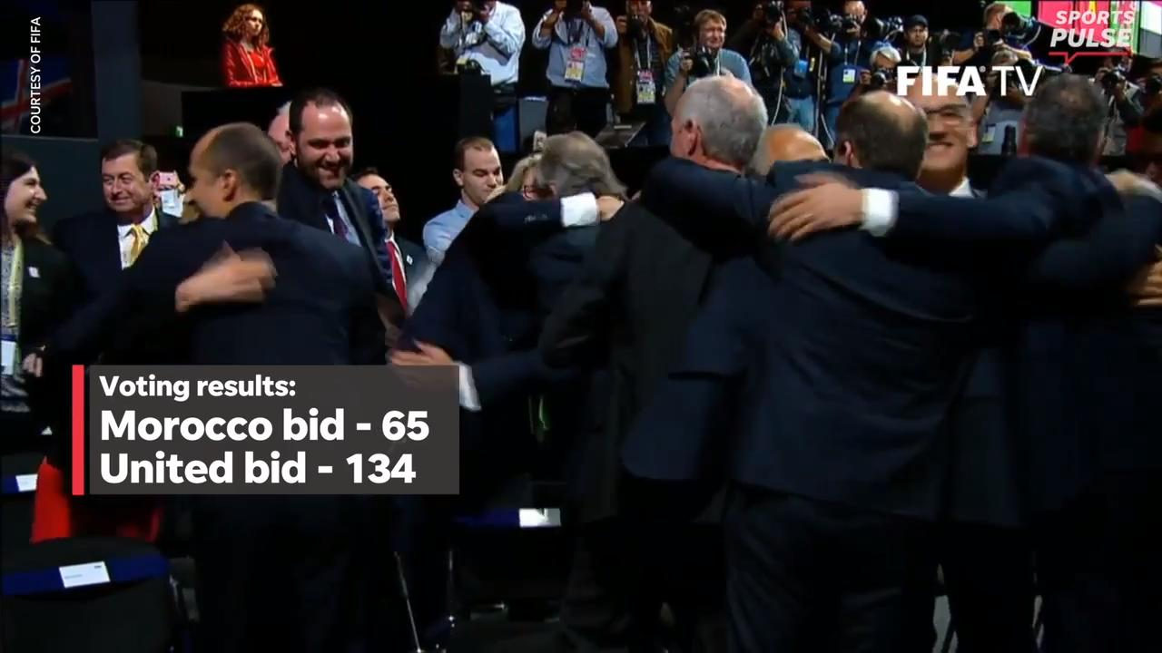 Take a look inside the 2018 FIFA Congress to the moment when the United States, Canada and Mexico found out they'd host the 2026 World Cup.