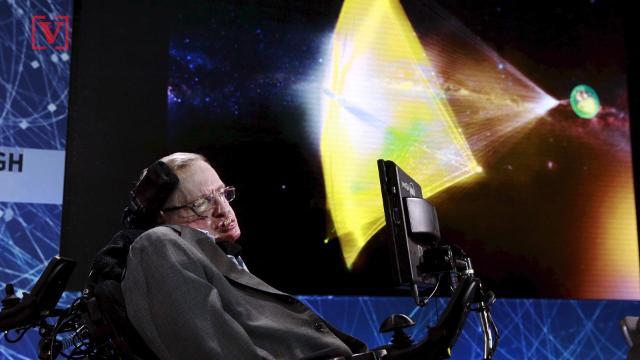 Stephen Hawking's words will be beamed toward a black hole