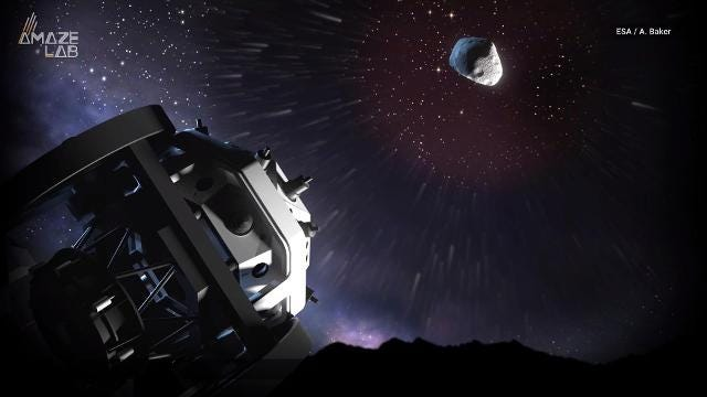 The first-of-its-kind telescope will use insect-like vision to scan the whole sky for asteroids that are getting a little too close for comfort.
