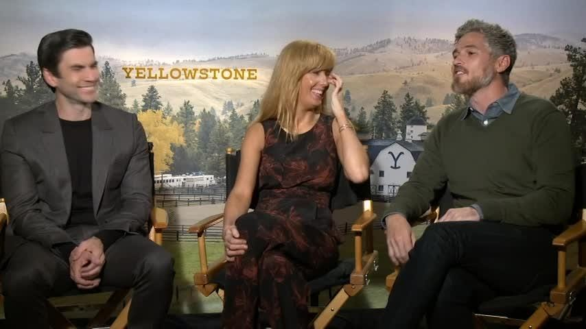 "Stars of new family saga ""Yellowstone"" say they are looking forward to some quality time with their kids on Father's Day. (June 15)"