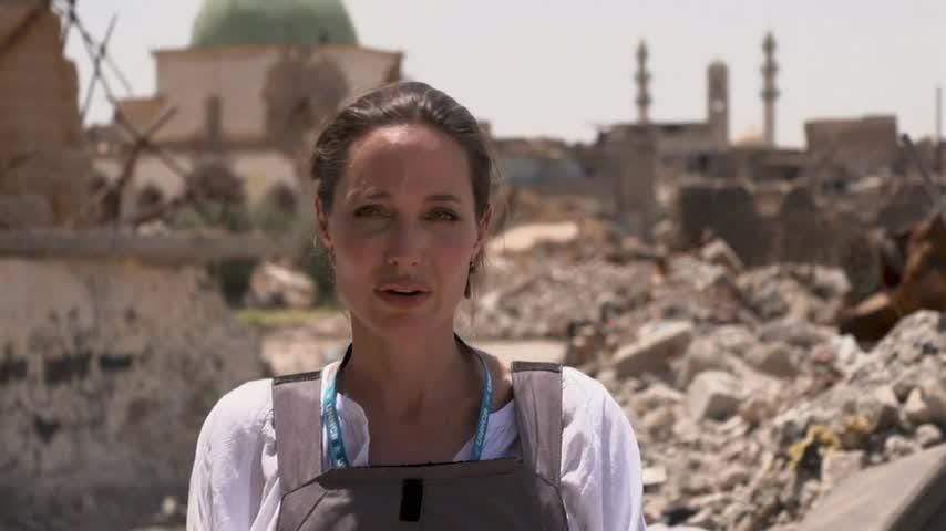 UNHCR Special Envoy Angelina Jolie visited West Mosul on Saturday (16 June 2018), less than a year after the city's liberation from the Islamic State group. (June 16)