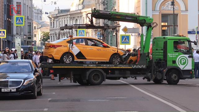 Eight people were injured during the World Cup after a taxi rammed through a crowd near the famous Red Square in Moscow. For more on the story here is Zachary Devita.