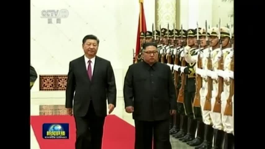 Kim Jong Un meets with China's president