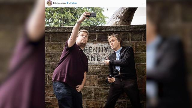 """The pair belted out the 1965 classics """"Drive My Car"""" and """"Help"""" and even stopped by Penny Lane in the latest edition of """"Carpool Karaoke."""""""