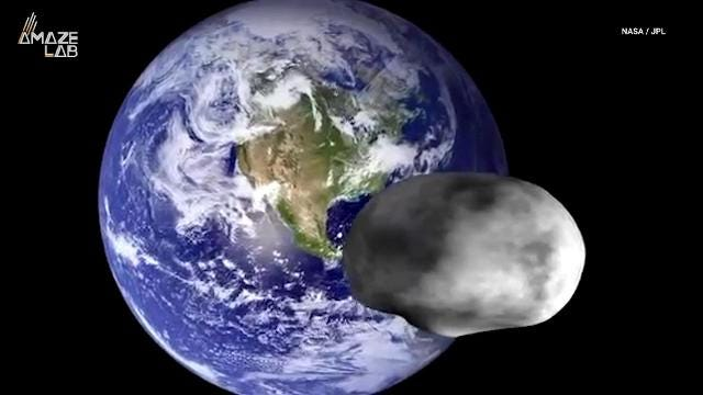 A giant asteroid zooming by Earth can be seen with the ...