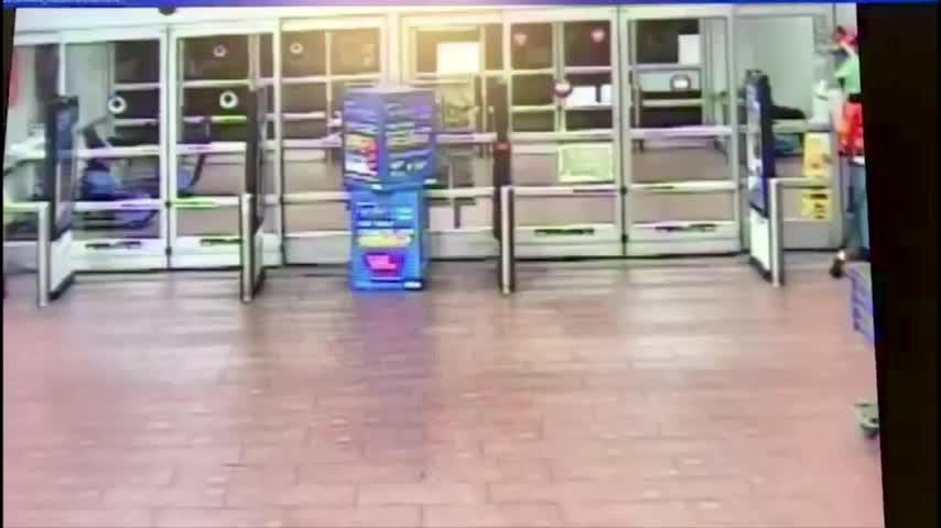 Caught On Camera Man Drives Truck Into Texas Walmart