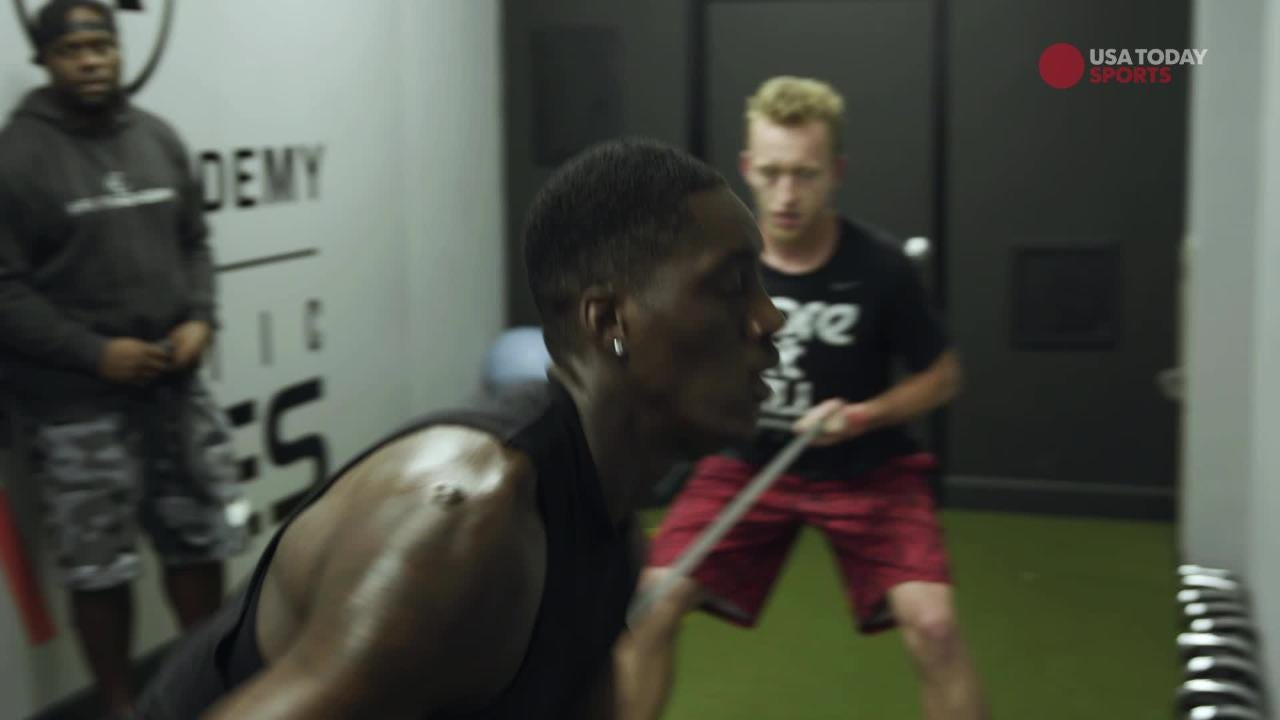 Milwaukee Bucks player Tony Snell works hard to be prepared for the rigors of the NBA.