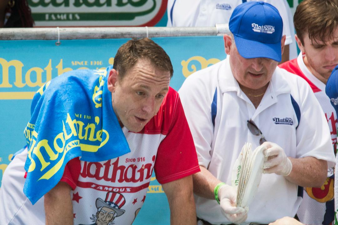 48015bfa Joey Chestnut and Miki Sudo win 2018 Nathan's Famous Hot Dog Eating Contest