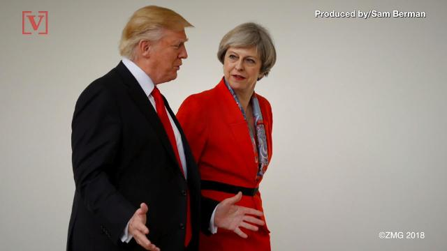 Americans in Britain were asked to keep a low profile during President Trump's visit. Veuer's Sam Berman has the full story.