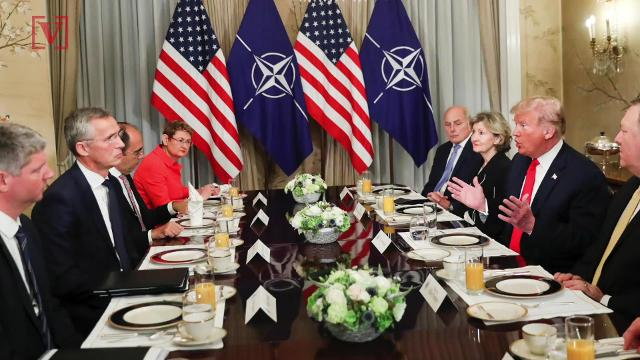 President Trump going after the head of NATO in a testy exchange over Germany and Russia. Veuer's Nick Cardona has that story.