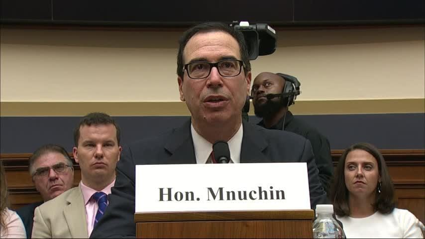 US Treasury Secretary Steve Mnuchin faced tough questions from Republicans and Democrats on Capitol Hill Thursday. Mnuchin's appearance came as China tried to step up pressure on Washington in their growing tariff war. (July 12)