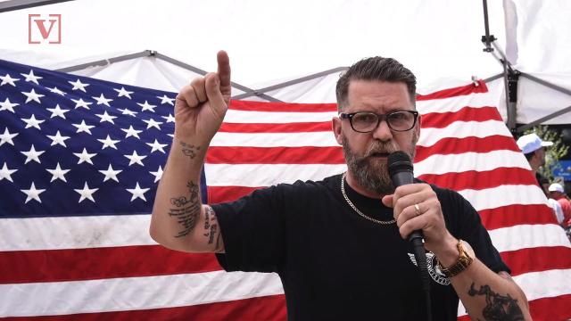 Clashes over political views flaring up once again, this time at a bar in Los Angeles between the far-right Proud Boys and left wing activists. Nathan Rousseau Smith has the story.