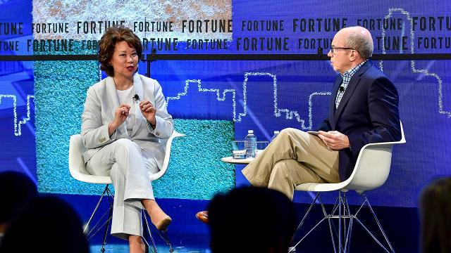 Elaine L. Chao sits down with Fortune's Alan Murray at Fortune's 2018 Brainstorm Tech conference.