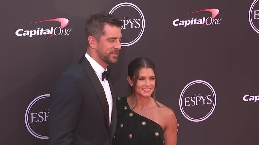 Hollywood celebrities including Chadwick Boseman and Allison Janney join sports stars on ESPYs red carpet in LA. (July 19)