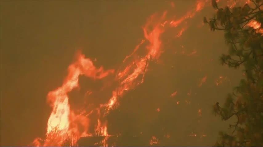 Wildfire Burning in Far Northern California