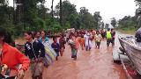 Hundreds missing after a hydropower dam collapsed in southern Laos