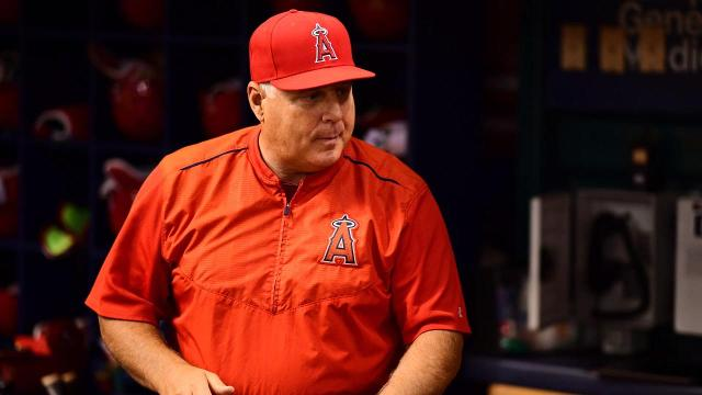 Angels' Mike Scioscia denies report he will step down after season