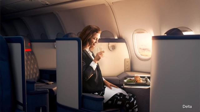 Delta is testing out bistro service in coach. Elizabeth Keatinge has more.