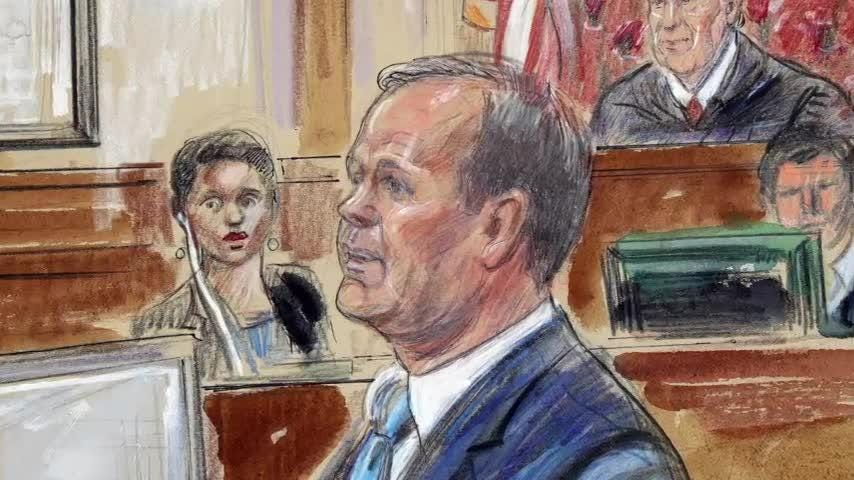 Rick Gates, the key prosecution witness in the Paul Manafort trial, continued his testimony Tuesday, telling jurors how he and Manafort together committed a series of financial crimes.  AP's Eric Tucker explains what's happening in the courtroom. (Aug. 7)