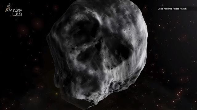 Remember that skull-shaped space rock that tormented us during Halloween in 2015? It's back and creepier than ever.