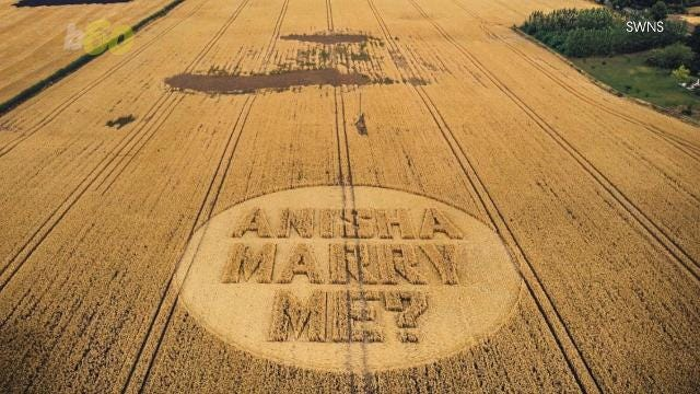 200 feet below the helicopter was a crop circle popping the big question.