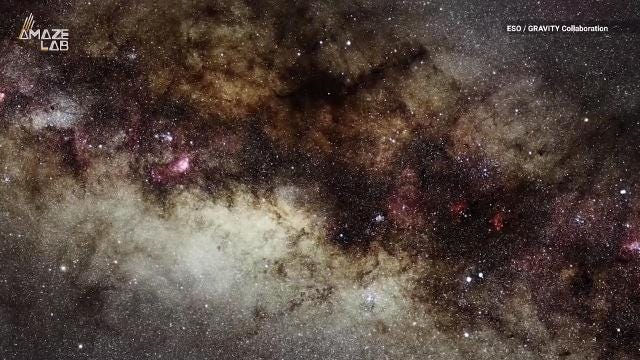 Video zooms to Milky Way center where stars orbit a massive black hole