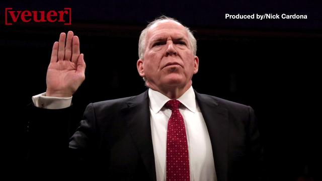 """Former CIA Chief John Brennan, the day after having his security clearance revoked by President Trump, penning an op-ed in the New York Times, titled, """"President Trump's Claims of No Collusion Are Hogwash."""" Veuer's Nick Cardona has the details."""