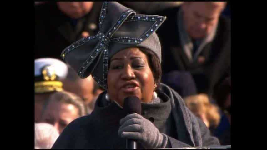 """Aretha Franklin brought down the house at President Barack Obama's first inauguration in 2009. Her performance was as memorable for her hat as it was for her rendition of """"America (My Country 'Tis of Thee)."""" (Aug. 16)"""