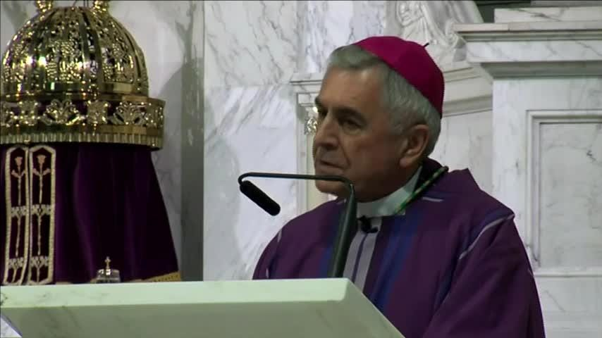 """A Pennsylvania bishop named in a grand jury report on sexual abuse by Roman Catholic clergy says he has """"profound remorse"""" and offers his """"heartfelt apology"""" to the victims. Harrisburg Bishop Ronald Gainer spoke Friday at a Mass of forgiveness. (Aug. 17)"""