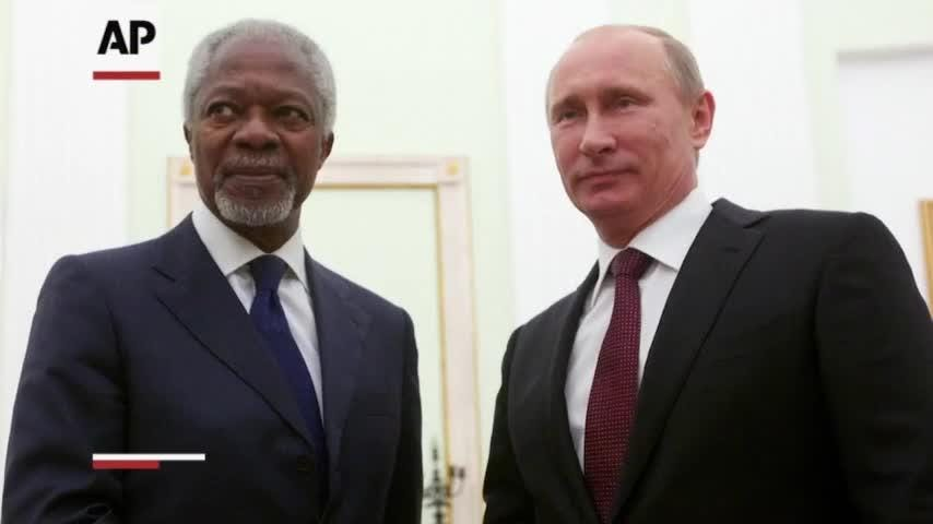 Kofi Annan, one of the world's most celebrated diplomats and a charismatic symbol of the United Nations who rose through its ranks to become the first black African secretary-general, has died. He was 80. (Aug. 18)
