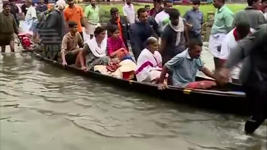 Thousands of stranded people were waiting for rescue Saturday and officials pleaded for more help as relentless monsoon floods battered the south Indian state of Kerala, where more than 190 have died. (Aug. 18)