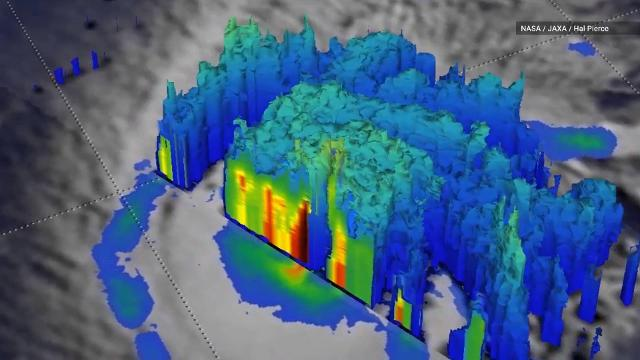 Get a close-up view of Hurricane Lane with NASA's 3D map Map Get on