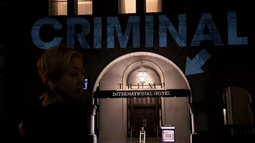 'Guilty,' 'Criminal' projected on Trump DC hotel