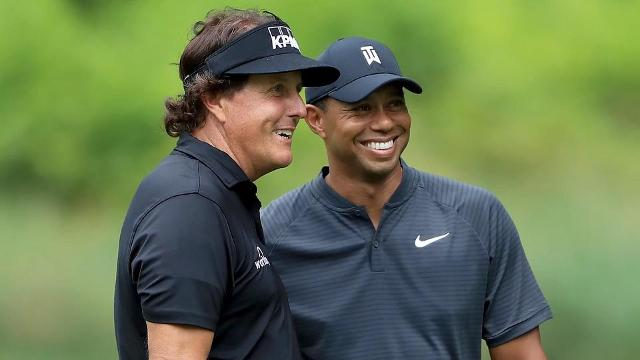 """Two of the biggest names in golf will square off on Thanksgiving weekend when """"The Match"""" takes place between Tiger Woods and Phil Mickelson."""
