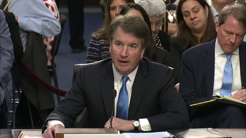 Supreme Court nominee Brett Kavanaugh is declining to answer questions about the extent of the president's pardon power. (Sept. 5)